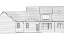 Home Plan - Traditional Exterior - Rear Elevation Plan #46-852