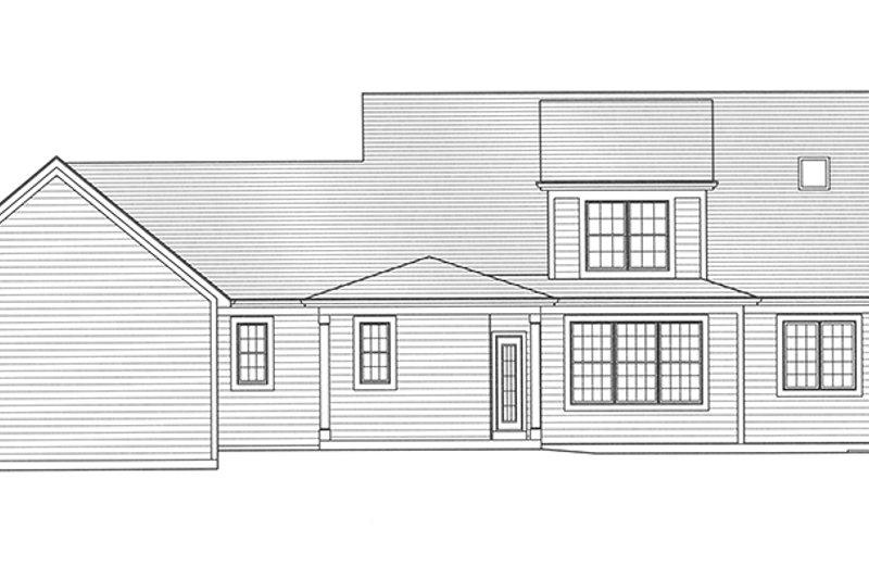 Traditional Exterior - Rear Elevation Plan #46-852 - Houseplans.com