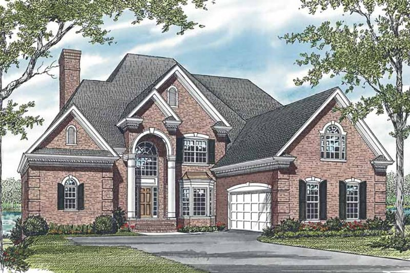 Architectural House Design - Traditional Exterior - Front Elevation Plan #453-590