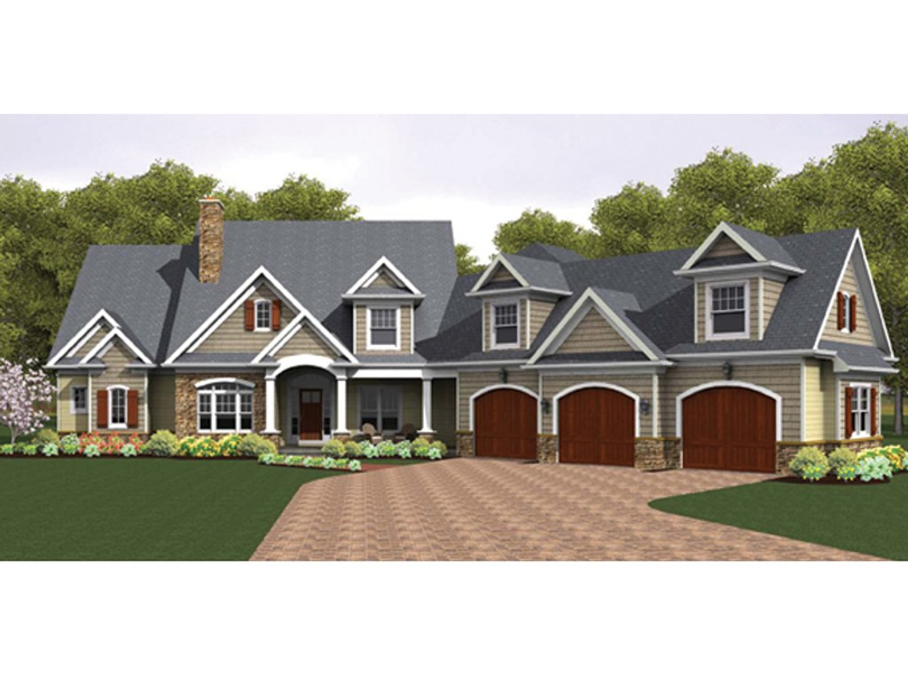 Colonial Style House Plan 4 Beds 3 5 Baths 3247 Sq Ft Plan 1010 40