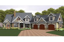 Architectural House Design - Colonial Exterior - Front Elevation Plan #1010-40