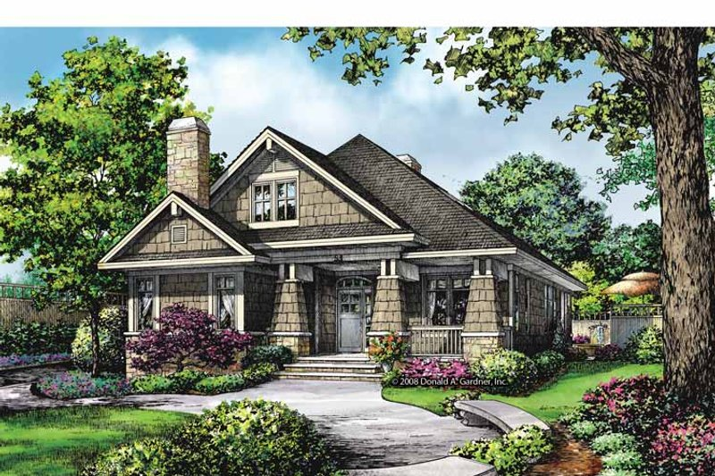 Craftsman Exterior - Front Elevation Plan #929-847 - Houseplans.com