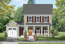 House Plan Design - Colonial Exterior - Front Elevation Plan #1053-63