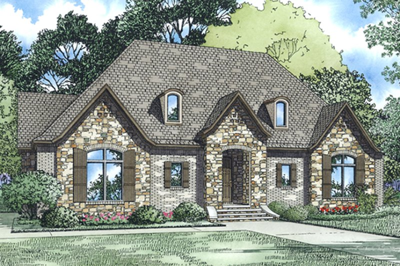 Architectural House Design - European Exterior - Front Elevation Plan #17-3388