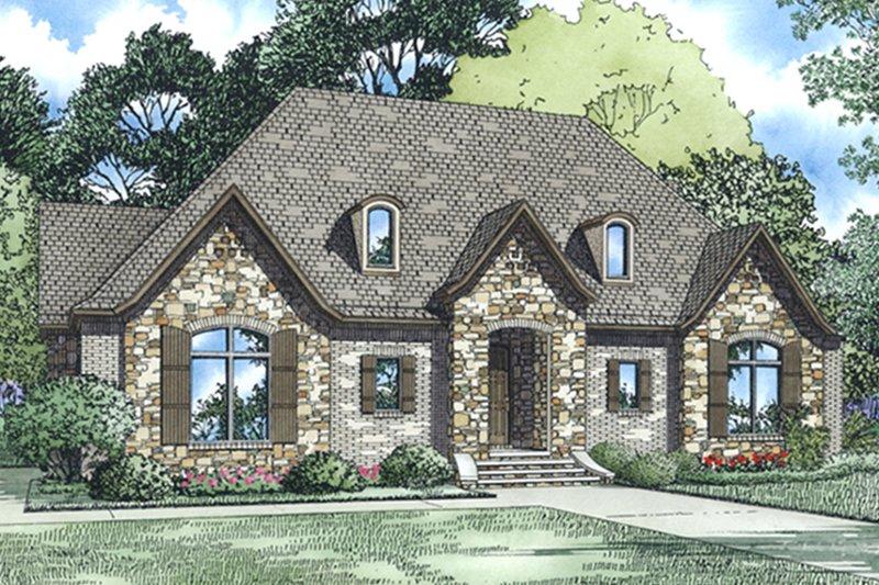 Dream House Plan - European Exterior - Front Elevation Plan #17-3388