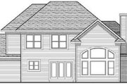Traditional Style House Plan - 4 Beds 3.5 Baths 2596 Sq/Ft Plan #70-626 Exterior - Rear Elevation