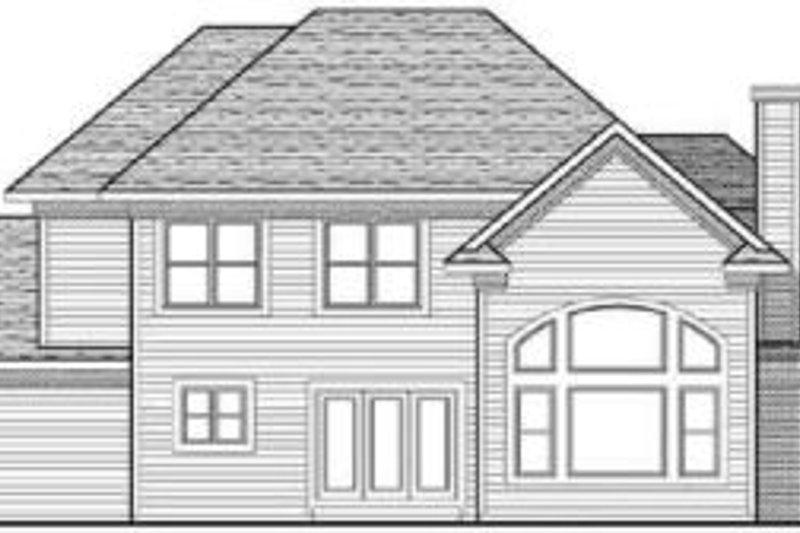 Traditional Exterior - Rear Elevation Plan #70-626 - Houseplans.com