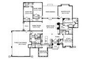 Craftsman Style House Plan - 4 Beds 3.5 Baths 3151 Sq/Ft Plan #413-130 Floor Plan - Main Floor Plan