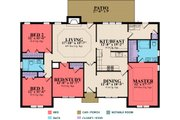 Traditional Style House Plan - 4 Beds 2 Baths 1880 Sq/Ft Plan #63-282 Floor Plan - Main Floor Plan