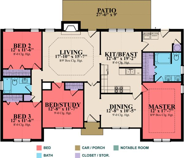 Traditional Floor Plan - Main Floor Plan Plan #63-282