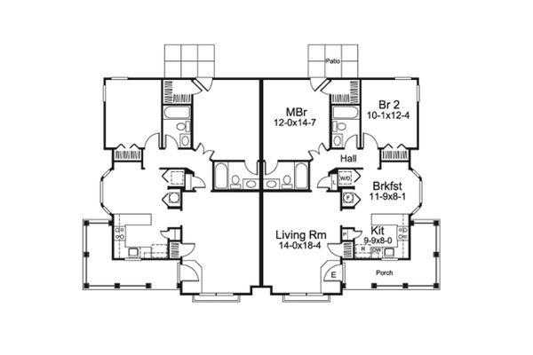 Country Floor Plan - Main Floor Plan Plan #57-684