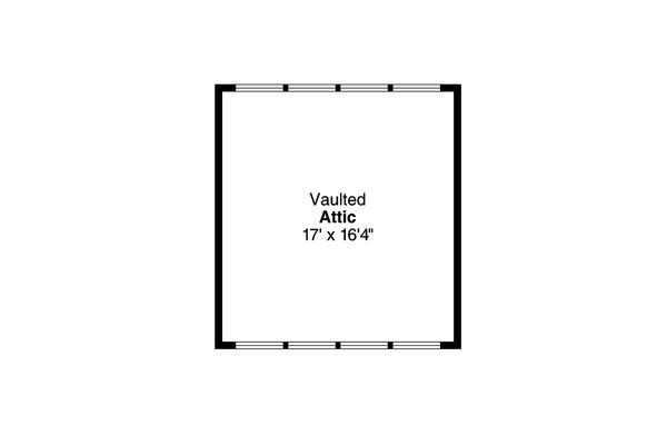 Craftsman Floor Plan - Upper Floor Plan Plan #124-1050