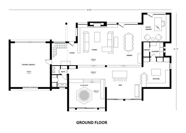Modern Floor Plan - Main Floor Plan Plan #542-1