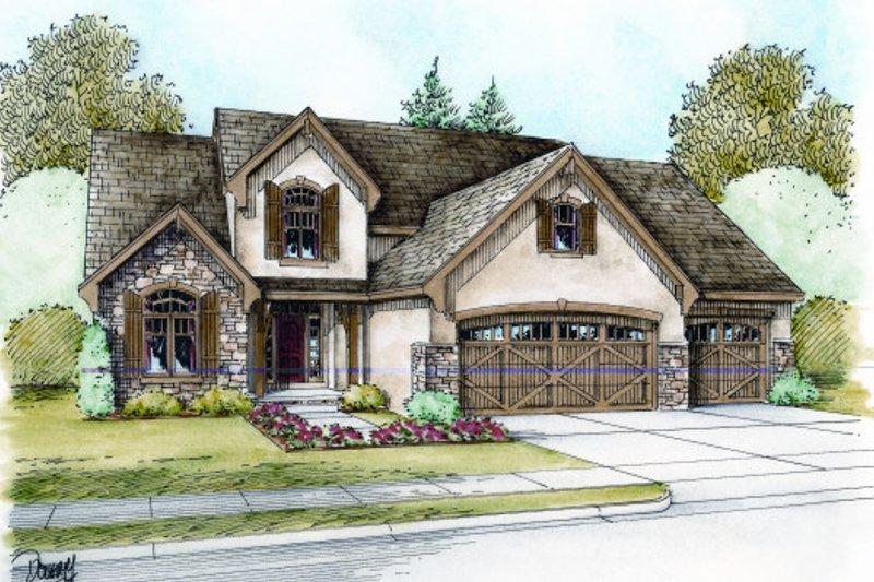 Dream House Plan - European Exterior - Front Elevation Plan #20-2073