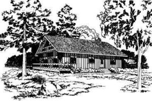 Cottage Exterior - Front Elevation Plan #312-208