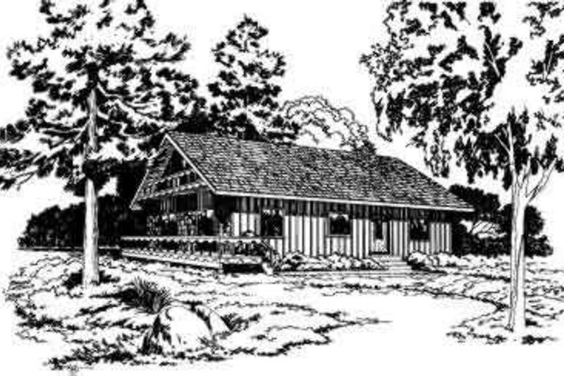 Cottage Style House Plan - 3 Beds 2 Baths 1171 Sq/Ft Plan #312-208 Exterior - Front Elevation