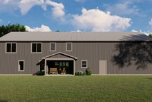 House Plan Design - Farmhouse Exterior - Rear Elevation Plan #1064-100
