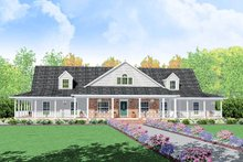 Dream House Plan - Traditional Exterior - Front Elevation Plan #36-234