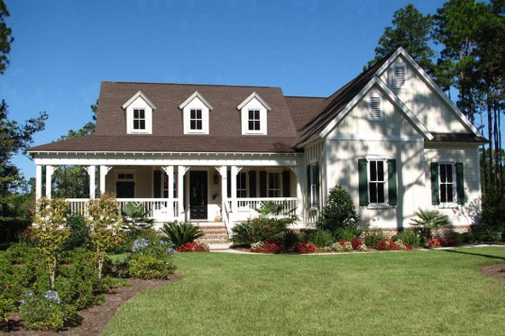 Farmhouse Exterior - Front Elevation Plan #54-394
