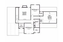 Traditional Floor Plan - Upper Floor Plan Plan #419-115