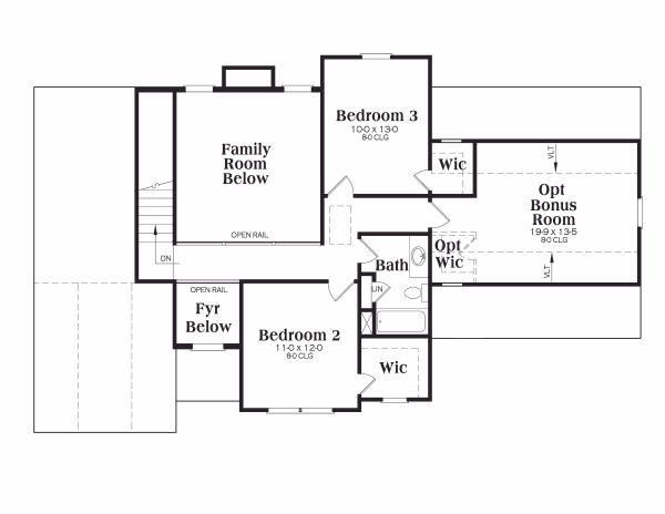 Architectural House Design - Traditional Floor Plan - Upper Floor Plan #419-115