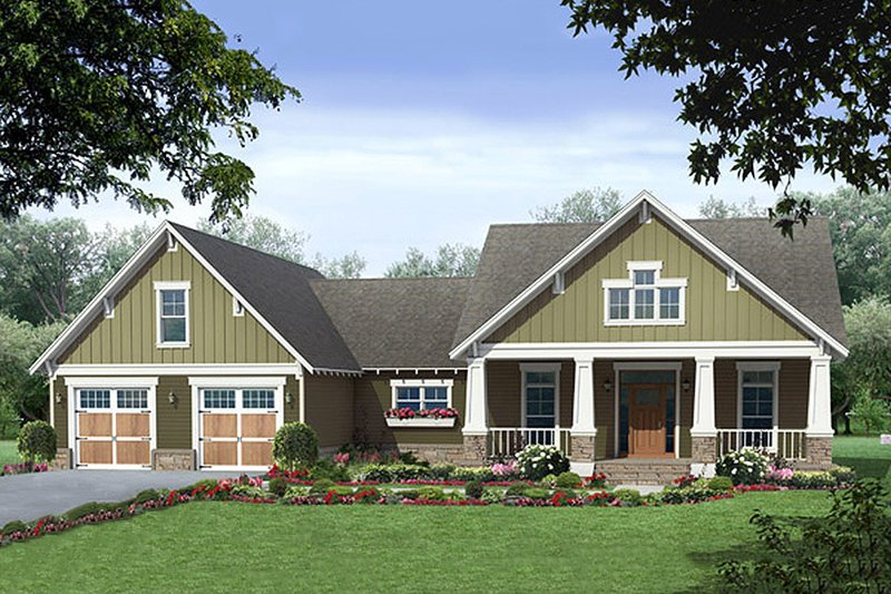 Craftsman Exterior - Front Elevation Plan #21-381