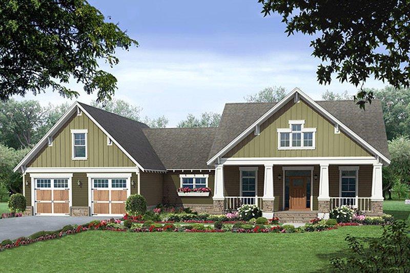 Dream House Plan - Craftsman Exterior - Front Elevation Plan #21-381
