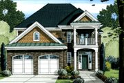 Traditional Style House Plan - 4 Beds 3.5 Baths 2758 Sq/Ft Plan #46-445