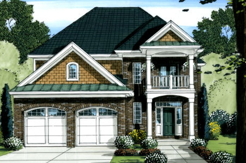 Dream House Plan - Traditional Exterior - Front Elevation Plan #46-445