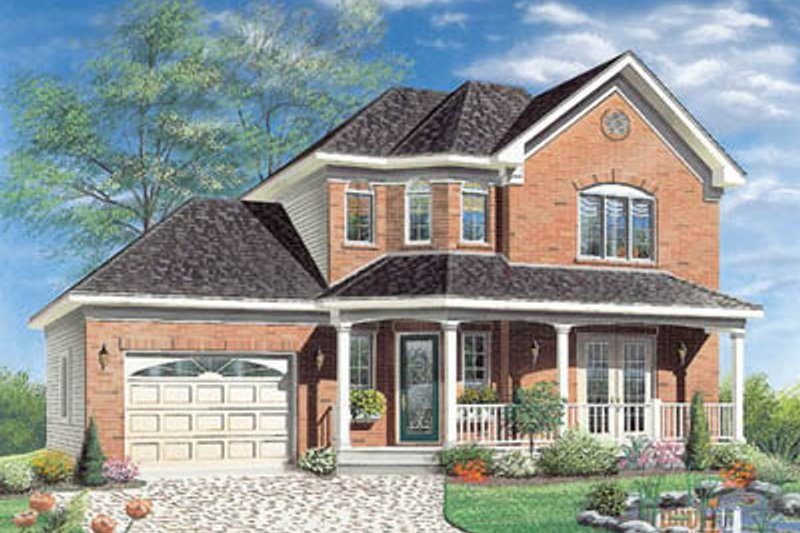 European Exterior - Front Elevation Plan #23-2136