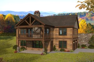 Country Exterior - Front Elevation Plan #932-383
