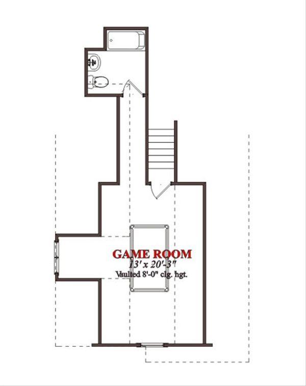 Bungalow Floor Plan - Upper Floor Plan Plan #63-225