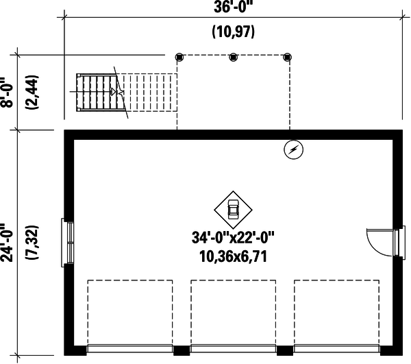 European Floor Plan - Main Floor Plan Plan #25-4751