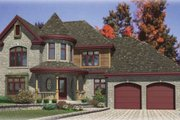 European Style House Plan - 3 Beds 2.5 Baths 2110 Sq/Ft Plan #138-158 Exterior - Front Elevation