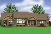Craftsman Style House Plan - 4 Beds 2 Baths 2999 Sq/Ft Plan #48-602 Exterior - Rear Elevation