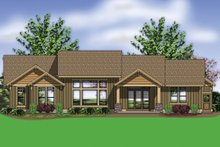 Dream House Plan - Craftsman Exterior - Rear Elevation Plan #48-602