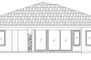 Mediterranean Style House Plan - 3 Beds 2 Baths 1763 Sq/Ft Plan #24-238 Exterior - Rear Elevation