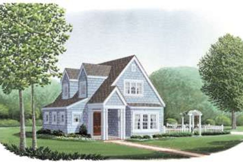Cottage Exterior - Front Elevation Plan #410-162
