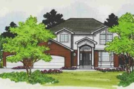 Traditional Exterior - Front Elevation Plan #308-116