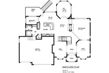 European Floor Plan - Main Floor Plan Plan #320-488