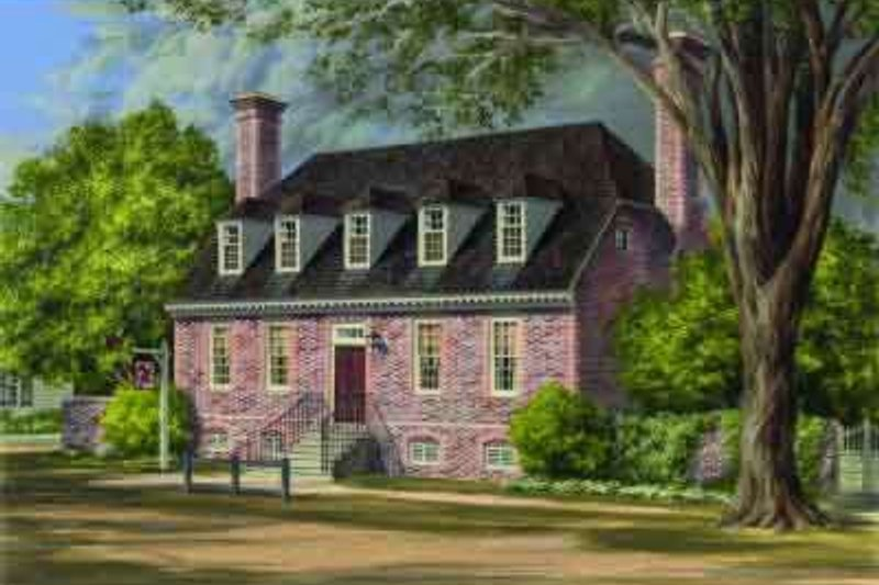 Colonial Exterior - Front Elevation Plan #137-243