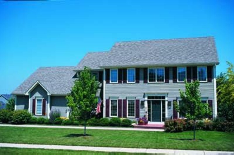 Dream House Plan - Colonial Exterior - Front Elevation Plan #20-1045