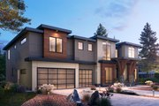 Contemporary Style House Plan - 5 Beds 5.5 Baths 5156 Sq/Ft Plan #1066-104