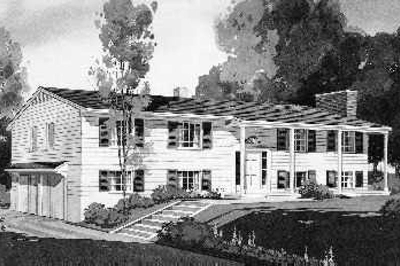 House Blueprint - Colonial Exterior - Front Elevation Plan #72-344