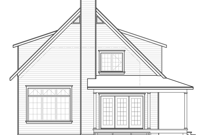 Country Exterior - Rear Elevation Plan #23-2582 - Houseplans.com