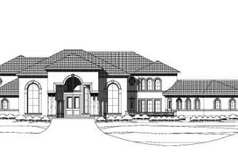 Traditional Style House Plan - 6 Beds 7.5 Baths 8390 Sq/Ft Plan #411-134 Exterior - Front Elevation