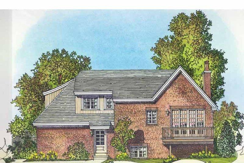 Contemporary Exterior - Rear Elevation Plan #1016-99 - Houseplans.com