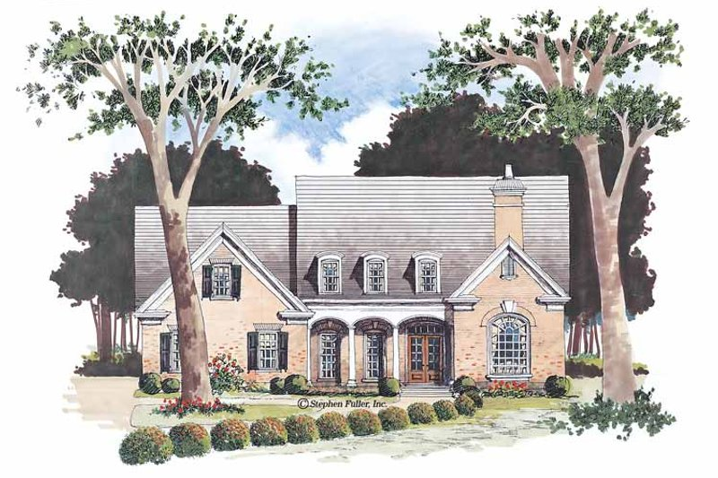 Architectural House Design - Country Exterior - Front Elevation Plan #429-56