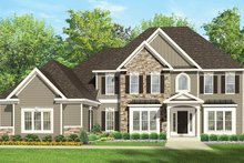 Colonial Exterior - Front Elevation Plan #1010-167
