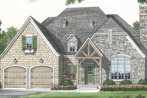 European Exterior - Front Elevation Plan #453-70